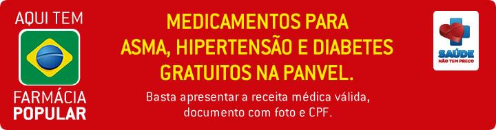 Medicamentos Para Hipertensão e diabetes gratuitos na Panvel.